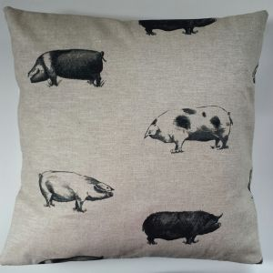 "Cushion Cover in Clarke & Clarke Country Pigs 14"" 16"" 18"" 20"""